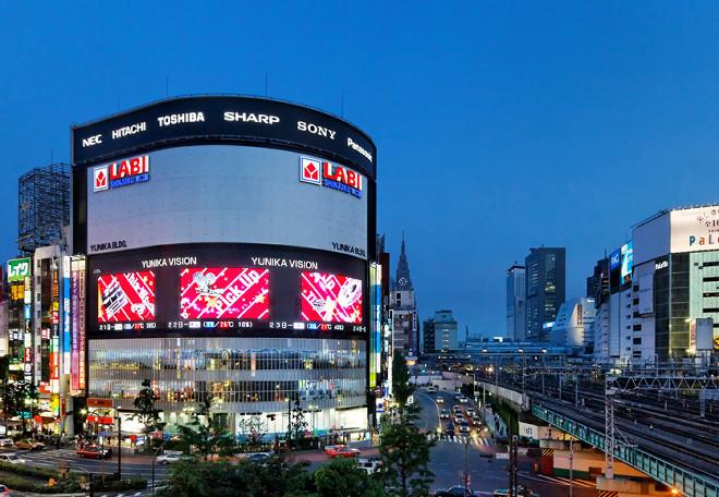 일본 전광판광고 - 단미애드