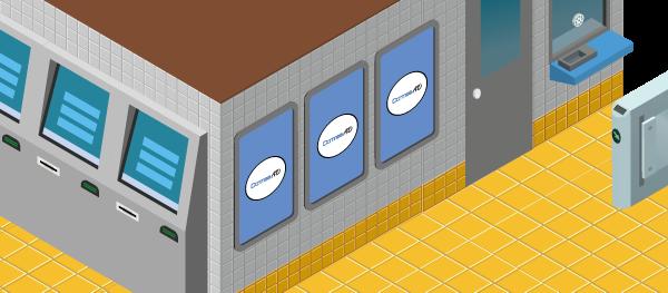 일본 지하철역광고 - 단미애드