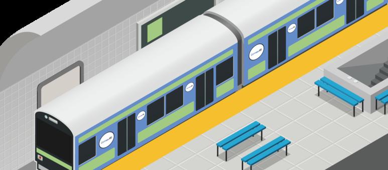 일본 지하철광고 - 단미애드